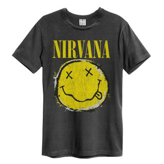 Herren T-Shirt Metal Nirvana - Worn Out Smiley - AMPLIFIED, AMPLIFIED, Nirvana