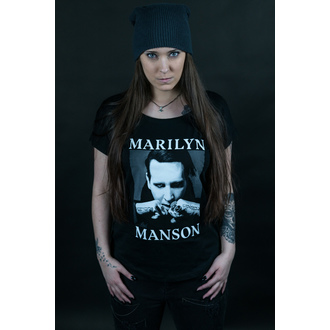 Damen T-Shirt Metal Marilyn Manson - Fists - ROCK OFF, ROCK OFF, Marilyn Manson