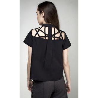 Damen Bluse DISTURBIA - Abstract Crop - Schwarz, DISTURBIA