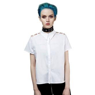 Damen Bluse DISTURBIA - Abstract Crop - Weiß, DISTURBIA