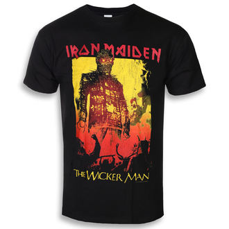 Herren T-Shirt Metal Iron Maiden - The Wicker Man Fire - ROCK OFF, ROCK OFF, Iron Maiden