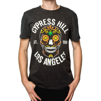 Herren T-Shirt CYPRES HILL - FLORAL SKULL - HOLZKOHLE - AMPLIFIED, AMPLIFIED, Cypress Hill