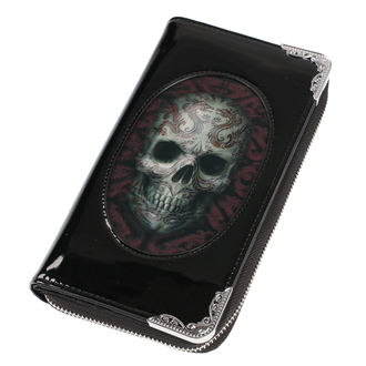 Brieftasche ANNE STOKES - Oriental Skull - Schwarz, ANNE STOKES