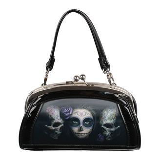Handtasche (Tasche) ANNE STOKES - Day Of The Dead - Schwarz, ANNE STOKES