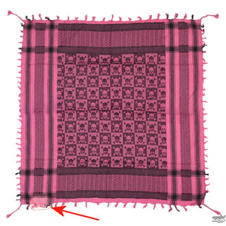 kopftuch ARAFAT - palestina - schädel 29 - rosa - BESCHÄDIGT