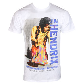 Herren T-Shirt Metal Jimi Hendrix - RAINBOW GUITAR FIRE - BRAVADO, BRAVADO, Jimi Hendrix