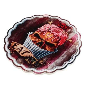 Deko Servierplatte ALCHEMY GOTHIC - Skull Cupcake, ALCHEMY GOTHIC