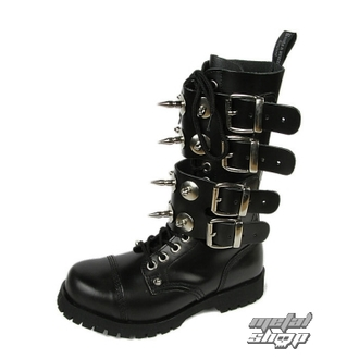 Schuhe BOOTS AND BRACES - Scare 4-buckles - SCHWARZE, BOOTS & BRACES