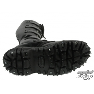 Schuhe BONDAGE LONDON - 5-buckles Leder - SCHWARZE, BONDAGE LONDON