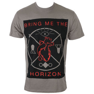 Herren T-Shirt Metal Bring Me The Horizon - HEARTS & SYMBOLS - GRY - BRAVADO, BRAVADO, Bring Me The Horizon