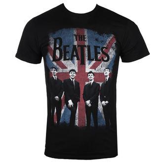 Herren T-Shirt Beatles - UNION JACK DIST BLK - BRAVADO, BRAVADO, Beatles