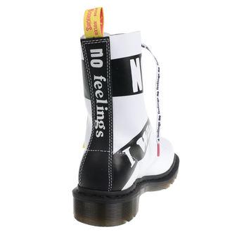 boty DR.MARTENS - 10 dírkové - Sex Pistols - BACKHAND - White