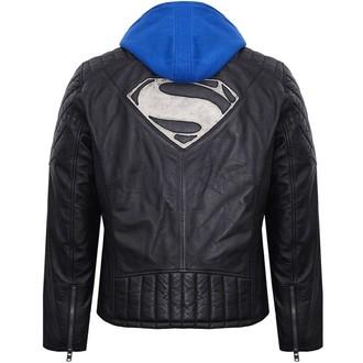 Herren Lederjacke Superman - BLACK -