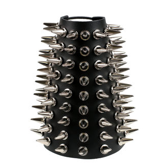 Armband Spikes 9, BLACK & METAL