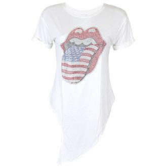 Damen T-Shirt Metal Rolling Stones - RS USA BLING TONGUE WHITE - PLASTIC HEAD, PLASTIC HEAD, Rolling Stones