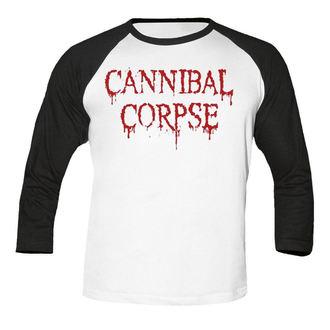 Herren 3/4 Arm Shirt Cannibal Corpse - Dripping logo BASEBALL - NUCLEAR BLAST, NUCLEAR BLAST, Cannibal Corpse