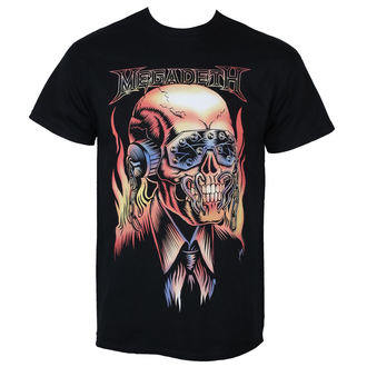 Herren T-Shirt Metal Megadeth - FLAMING VIC - PLASTIC HEAD - RTMGD031