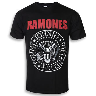 Herren T-Shirt Metal Ramones - RED TEXT SEAL LOGO - PLASTIC HEAD, PLASTIC HEAD, Ramones