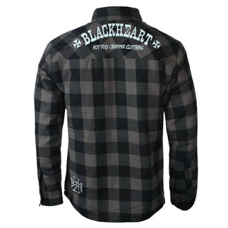 Herrenhemd BLACK HEART - DUKE LINED - GRAU, BLACK HEART