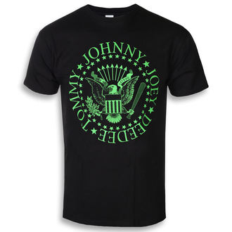 Herren T-Shirt Metal Ramones - Green Seal - ROCK OFF, ROCK OFF, Ramones