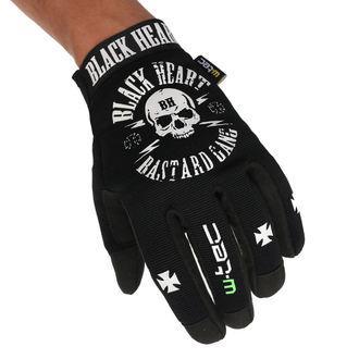 Handschuhe BLACK HEART - BASTARD SKULL - SCHWARZ, BLACK HEART