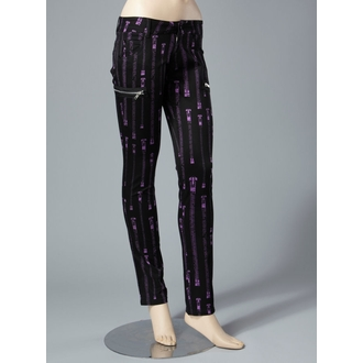 Damen Hose  HELL BUNNY - Zipper Skinny Jeans (Purple)