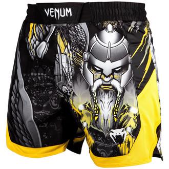 Kurze Herren Boxer Hosen (Kampfshorts) Venum - Viking 2.0 - Schwarz/Gelb, VENUM
