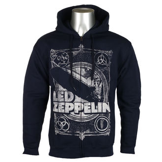 Herren Hoodie Led Zeppelin - Navy -, NNM, Led Zeppelin