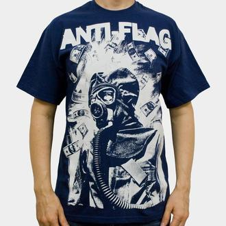 Herren T-Shirt  Anti Flag (Gasmask) - KINGS ROAD - Blue Navy, KINGS ROAD, Anti-Flag