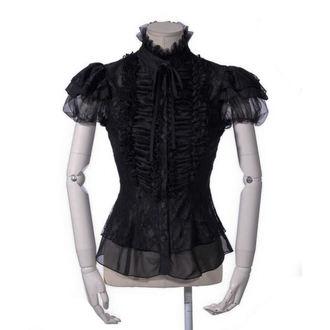 Damen Bluse Gothic Punk - Cynthia black - PUNK RAVE, PUNK RAVE
