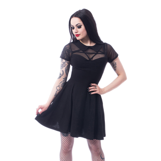 Damen Kleid Herzen - HEX WEDNESDAY - SCHWARZ, HEARTLESS