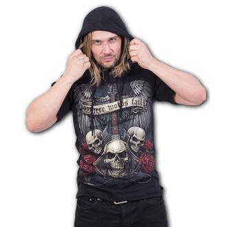 Herren T-Shirt mit Kapuze - UNSPOKEN - SPIRAL, SPIRAL