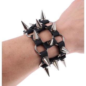 Armband SPIKES 2 - Black, JM LEATHER