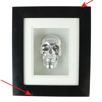 Bild Silber Schädel Im Rahmen - B0330B4 - BESCHÄDIGT