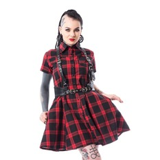 Damen Kleid Heartless - LOVISA - ROT PRÜFEN, HEARTLESS