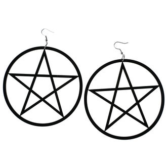 Ohrringe Luciferothica - Huge Pentagram, LUCIFEROTHICA