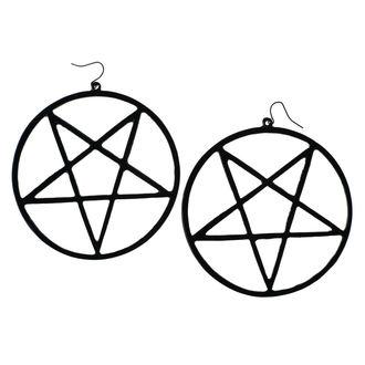 Ohrringe Luciferothica - Huge Inverted Pentagram - Schwarz, LUCIFEROTHICA