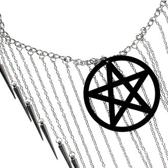 Halskette Luciferothica - Pentagram Black, LUCIFEROTHICA