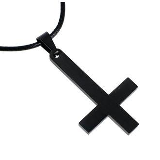 Anhänger mit Schnur Luciferothica - Black Inverted Cross, LUCIFEROTHICA