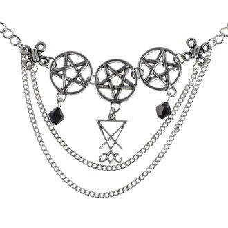 Halskette mit Anhänger Luciferothica - Luciferian Choker, LUCIFEROTHICA