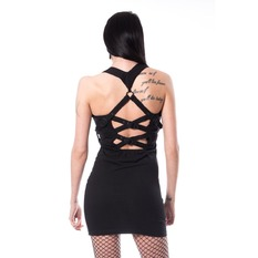 Damen Kleid Heartless - MEERI - SCHWARZ, HEARTLESS
