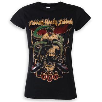 Damen T-Shirt Metal Black Sabbath - Bloody Sabbath 666 - ROCK OFF, ROCK OFF, Black Sabbath