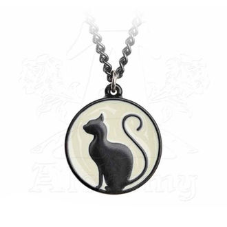 Anhänger mit Halskette ALCHEMY GOTHIC - Meow At The Moon, ALCHEMY GOTHIC