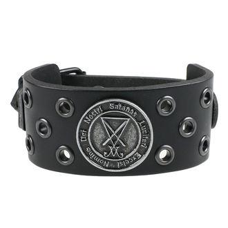 Armband Luciferi - ring black, Leather & Steel Fashion