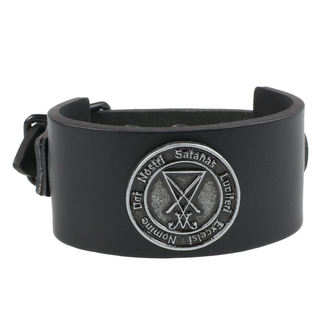 Armband Luciferi - Black, Leather & Steel Fashion