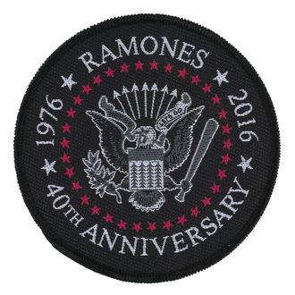 Aufnäher RAMONES - 40TH ANNIVERSARY - RAZAMATAZ, RAZAMATAZ, Ramones