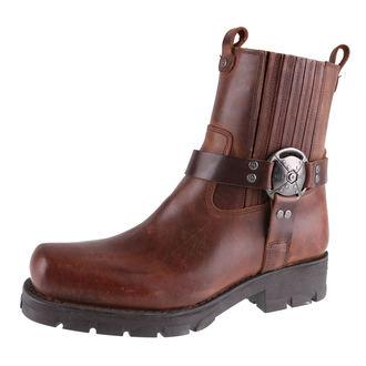 Schuhe NEW ROCK - ALASKA CUERO, MOTORCYCLE Marrone, NEW ROCK