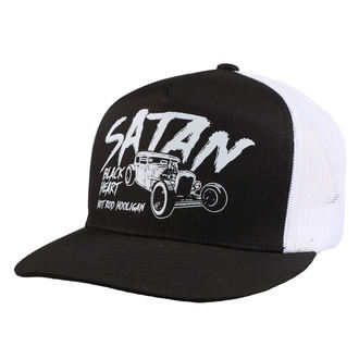 Cap BLACK HEART - SATAN - WEISS, BLACK HEART