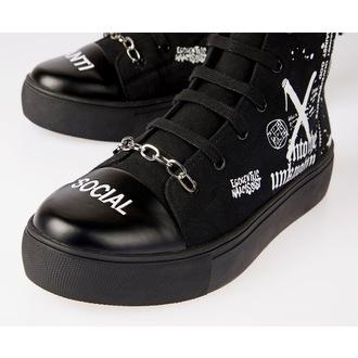 Unisex High Top Sneakers - DISTURBIA