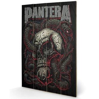 Holzbild Pantera - (&&string0&&) - PYRAMID POSTERS, PYRAMID POSTERS, Pantera